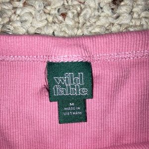 Pink ribbed wild fable tank top